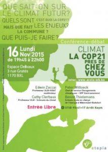 La COP21 près de chez vous - Conférence-débat @ Espace Delvaux | Watermael-Boitsfort | Bruxelles | Belgique