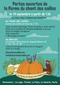 Portes Ouvertes au Chant des Cailles @ Chant des Cailles | Watermael-Boitsfort | Bruxelles | Belgique
