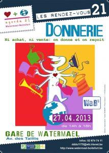 Donnerie - Troisième édition à Watermael-Boitsfort! @ Gare de Watermael   Watermael-Boitsfort   Bruxelles   Belgique
