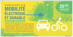 La mobilité durable de demain sera-t-elle électrique? @ Maison Haute | Watermael-Boitsfort | Bruxelles | Belgique