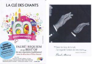 """Concert du 60ème anniversaire de la chorale """"La Clé des chants"""" @ Eglise Notre-Dame du Perpétuel Secours"""